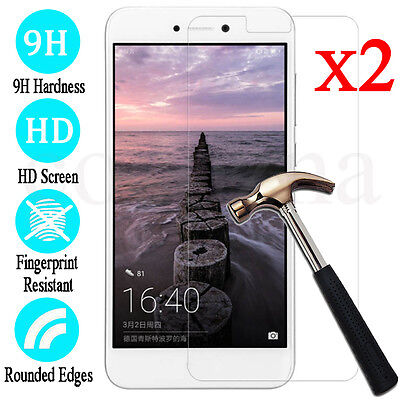 2x 9H Premium Tempered Glass Screen Protector Film For Huawei Honor 8 Lite