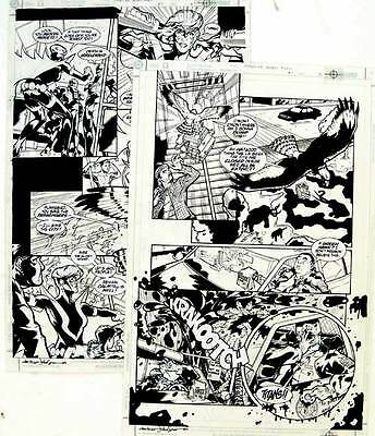 TITANS L.A SECRET FILES No.1 ORIGINAL Comic Book Art PAGES 4 & 5 DC COMICS 2000