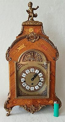Boulle Clock Westminster Chime Mantel Shelf 8 Day Hermle 60cms Vintage 1979 BIG