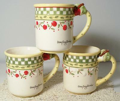 3 1998 Mary Engelbreit CHERRIES JUBILEE Mugs/Cups