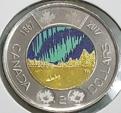 2017 Canada 150 - Glow in the Dark toonie UNC from roll