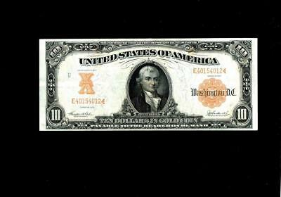 1907 $10.00 U.s. Large Size Gold Certificate