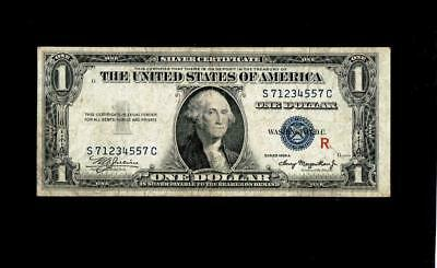 """Fr. 1609 1935-A $1 One Dollar Silver Certificate """"Experimental R"""""""