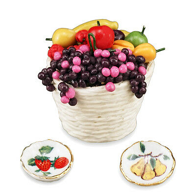 Reutter Porzellan Fruit Basket / Fresh Set Dollhouse 1:12 Art 1.482/8