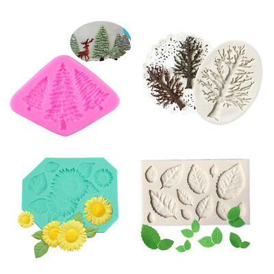 Cake Fondant Decor Sugarcarft Silicone Mold Cookie Biscuit Pastry Clay Mould