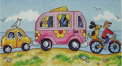 Are we there yet? Karen Carter - Counted Cross Stitch Kit Size 20 cm x 11 cm