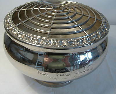 Ianthe - Large Silver Plated Rose Bowl
