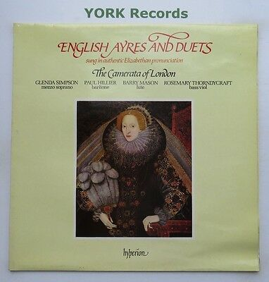 A 66003 - ENGLISH AYRES & DUETS - The Camerata Of London - Ex Con LP Record