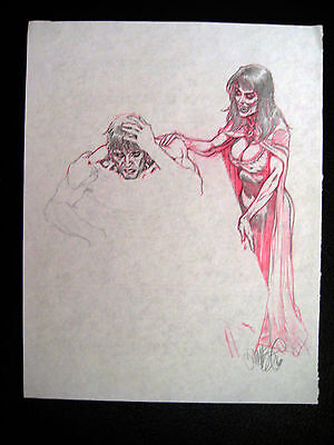 Tim Vigil Original Art C167 Gothic Night Layout Faust