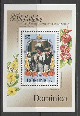 Dominica Sgms952 1985 Queen Mother Mnh