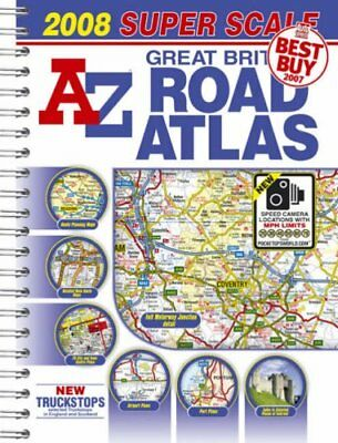 Great Britain Super Scale Road Atlas Paperback Book The Cheap Fast Free Post