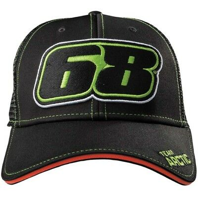 Arctic Cat Team 68 Cap Tucker Hibbert Snapback Closure - Black Green - 5279-567
