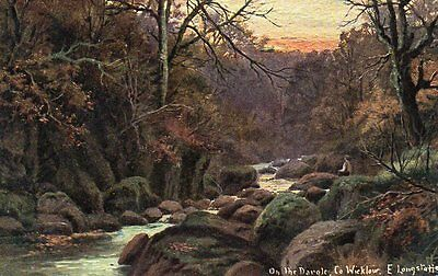 IRELAND - Co WICKLOW - ON THE DARGLE by E. LONGSTAFFE.