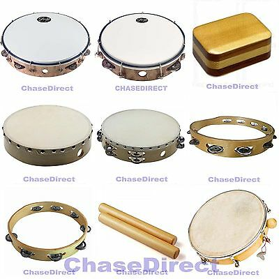Chase Hand Percussion Tambourine Drum Shaker Latin Rhythm Beater Beat