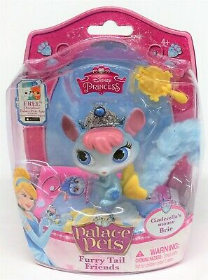 Disney Princess Cinderella Palace Pets Furry Tail Friends Brie Mouse Doll
