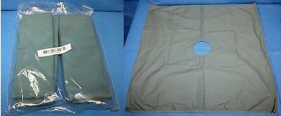 """6 each 100% Cotton Fenestrated Surgical Drape Sheets 24"""" w/ 3"""" Circular Opening"""