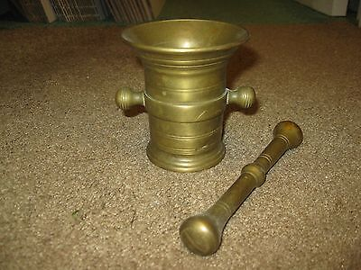 Solid Brass Mortar And Pestle Set Apothecary Pharmacy Spice