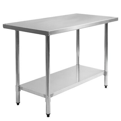 """New 30""""x 48"""" Stainless Steel Commercial Kitchen Work Food Prep Table"""