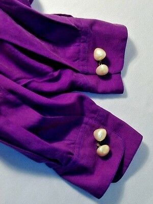 Vintage Chunky Faux Pearls Glass Base Cufflinks Cuff Links