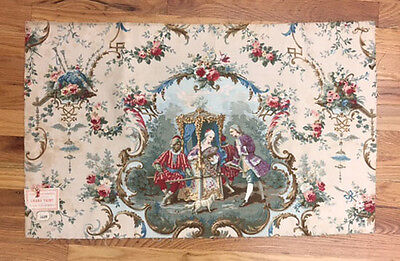 Antique 19th Century French Scenic Toile Fabric  (2023)