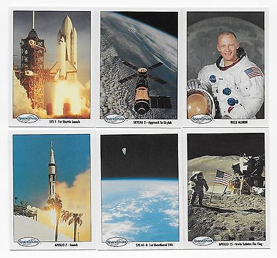 1990 Space Ventures SPACE SHOTS Trading Card Set  (110 Cards)