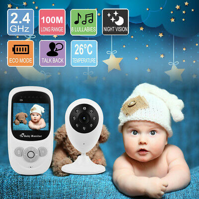 "2.4"" Wireless HD Video Baby Monitor 2.4GHz Night Vision Security Camera Viewer"