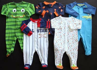 Baby Boy 3/6 6 Months Footed Sleeper Pajama Clothes Lot Free Shipping