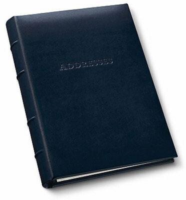 Gallery Leather Desk Address Book Organizer Acadia Leather - Navy