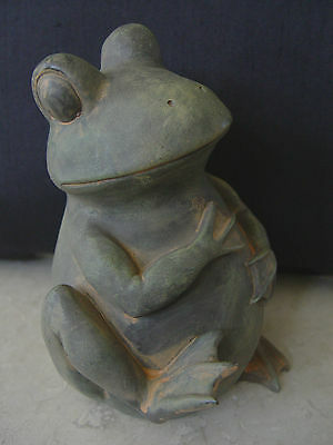 Ceramic Sitting Frog Figurine