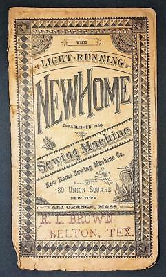 Antique New Home Sewing Machine Booklet Advertising Brochure Belton Texas