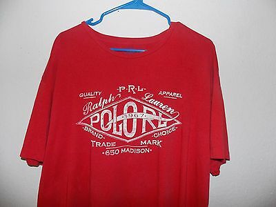 Polo Ralph Lauren Red Graphic T-Shirt Spell Out (Men XL)