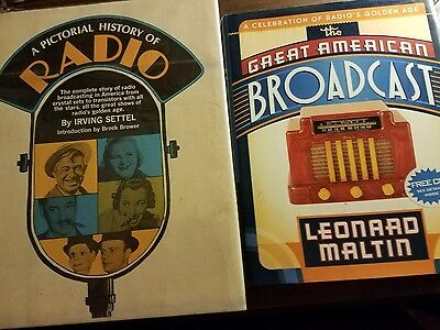 The Great American Broadcast and a pictorial history of radio books