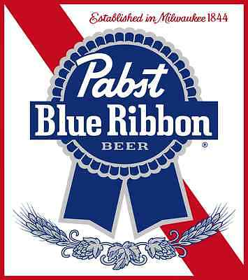 PABST BLUE RIBBON - STORE PROMO FLAG POSTER SIGN 5 ft tall X 3 ft wide PBR