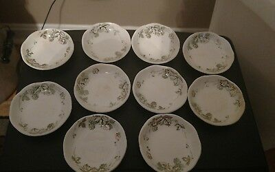 "Vintage Butter Pats - 10 Alfred Meakin ""Bramble"" England"