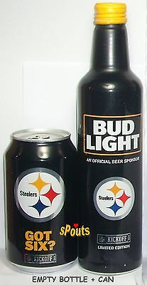 Pittsburgh Steelers 2017 Nfl Kickoff Aluminum Beer Bottle+Can Football Pa Sports