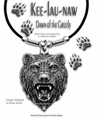 """Grizzlies Bear Grizzly Dawn Necklace - Jewelry Art Wild Nature 24"""" Free Ship #l"""