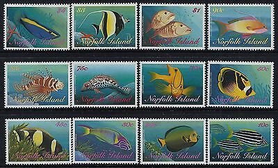 1998 Norfolk Island Reef Fish Complete Set Of 12 Stamps Fine Mint Mnh/muh