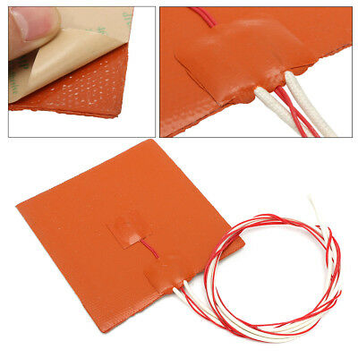 12V 120W Silicone Heater Pad for 3D Printer Heated Bed Heating Mat 12x12cm