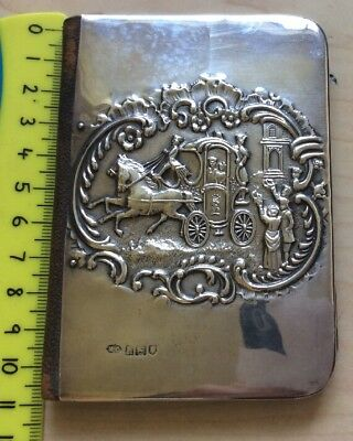 Antique Solid Sterling Silver Visiting Folding Card Case, Comyns, London 1903