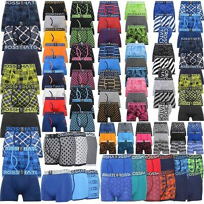 3 Pack Mens Crosshatch Designer Boxers Shorts Underwear Trunks Multipack Set New