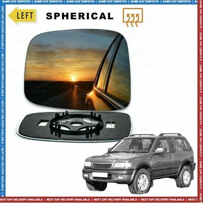 Left passenger side wing mirror glass for Vauxhall Frontera 1998-2004 heated