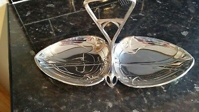 Art Nouveau Silver Plated Hors D'oeuvres Dish