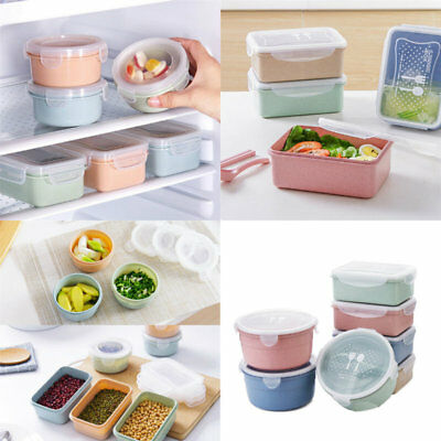 Plastic Sealed Crisper Refrigerator Containers Box Set Food Storage Lunch Boxes