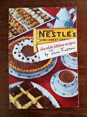 1950s Nestle Chocolate Kitchen Recipes Products Ad Cookbook Booklet Jane Fulton