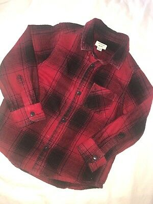 River Island Mini Boys Red Checked Shirt 12-18 Months