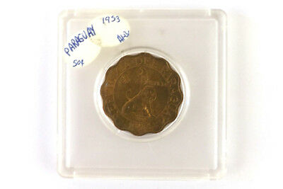 Paraguay 1953 50 Centimos Coin