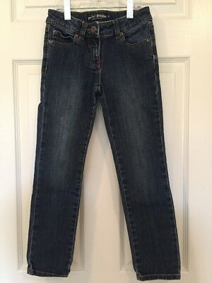 Mini Boden Girl 8 Blue Denim Jeans Adjustable Waist