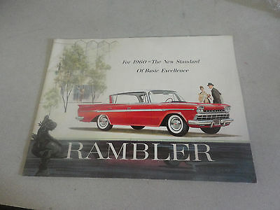 Rare 1960 The Standard of Basic Excellence ''RAMBLER'' Brochure