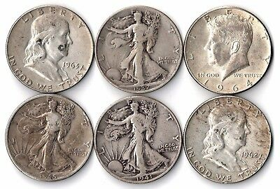 Collection Of U.s. Silver Half Dollars. 50¢. 90% Silver. Franklin,kennedy...