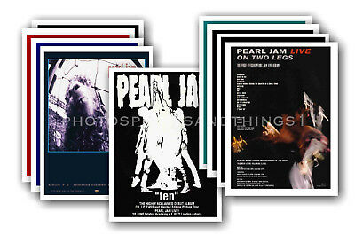 PEARL JAM - 10 promotional posters  collectable postcard set # 1